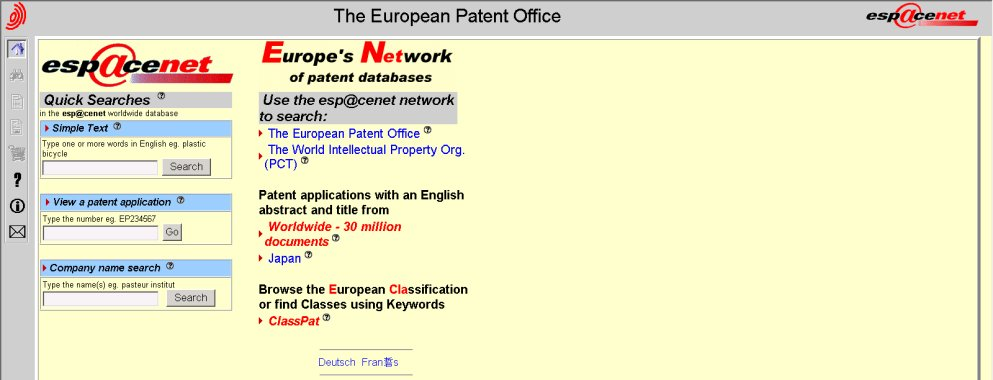 1998 Espacenet screenshot