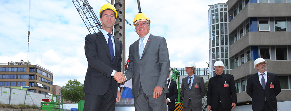 2014 Foundation stone laying ceremony in The Hague