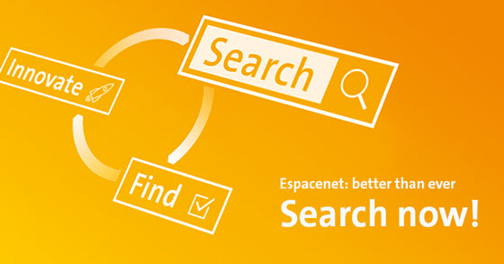 Image with words search, innovate, find