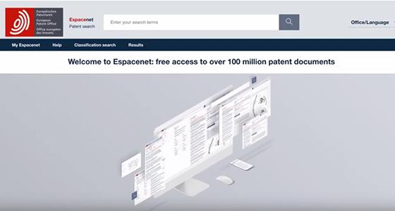 EPO - Espacenet: patent database with over 110 million documents