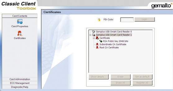 Smart card non validating