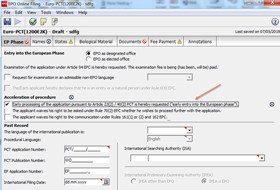 EPO - FAQ - Online filing